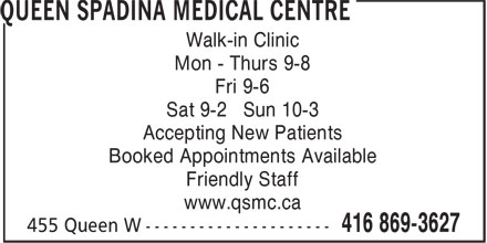Ads Queen Spadina Medical Centre