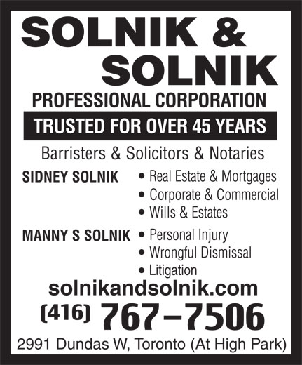 Ads Solnik &amp; Solnik Professional Corporation