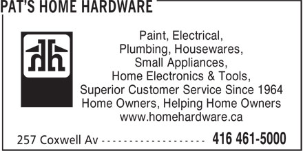 Ads Pat's Home Hardware