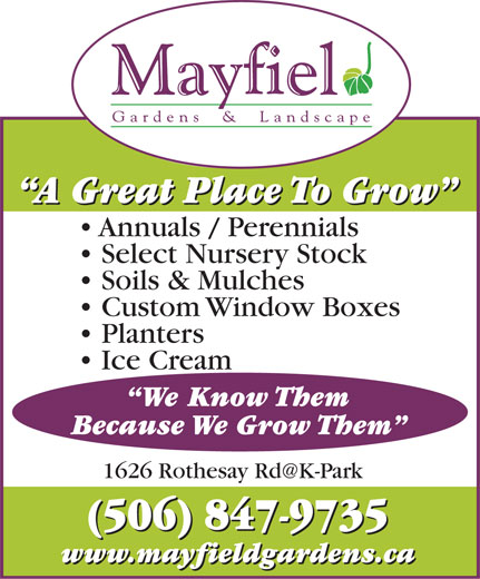 Ads Mayfield Gardens & Landscape