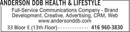Ads Anderson DDB Health & Lifestyle