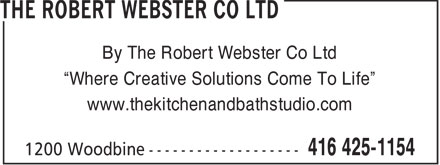 Ads The Robert Webster Co Ltd