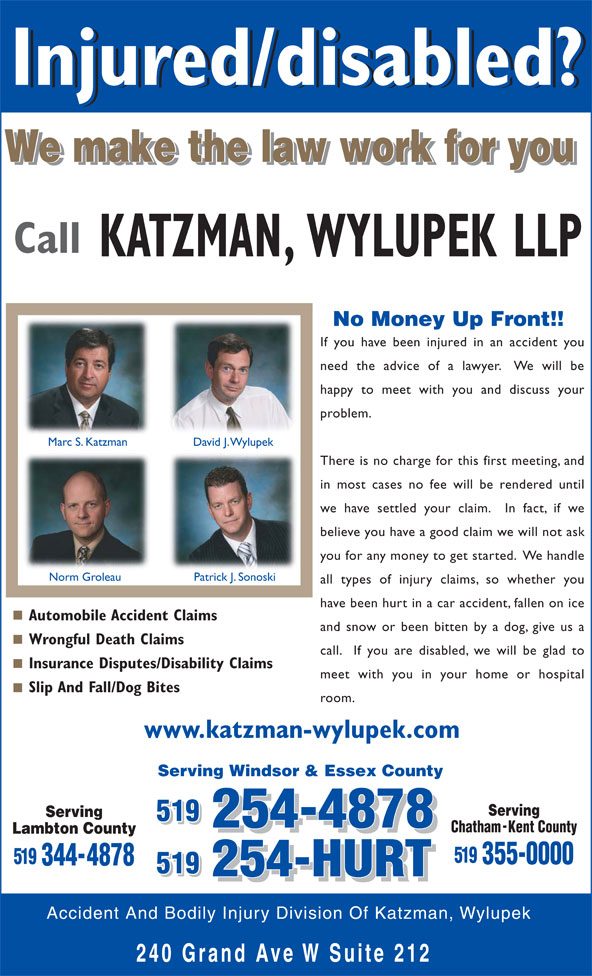 Ads Accident &amp; Bodily Injury Division Of Katzman &amp; Wylupek