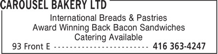 Ads Carousel Bakery Ltd - Sandwiches &amp; International Bread