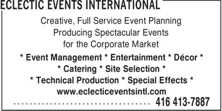 Ads Eclectic Events International
