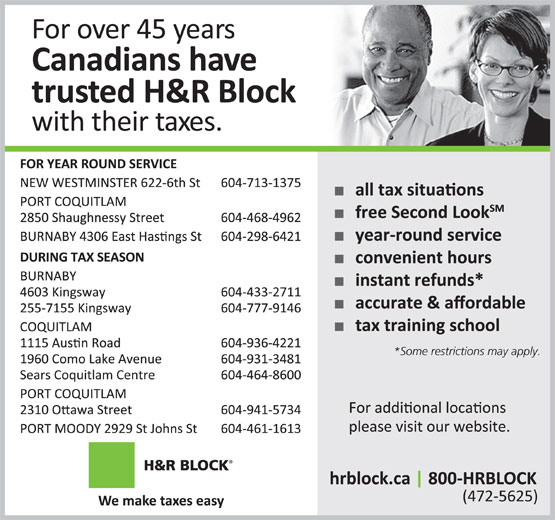 Ads H&amp;R Block