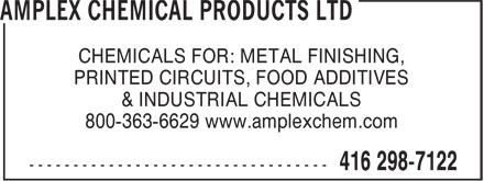Ads Amplex Chemical Products Ltd