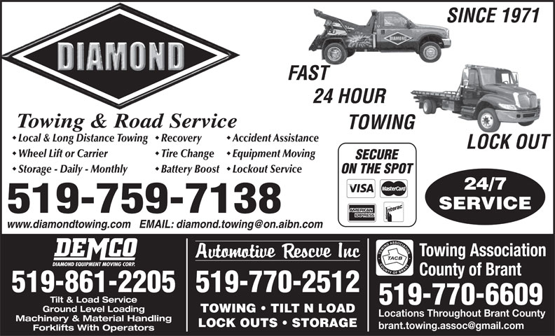 Ads Diamond Towing & Road Service