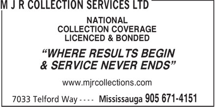 Ads M J R Collection Services Ltd
