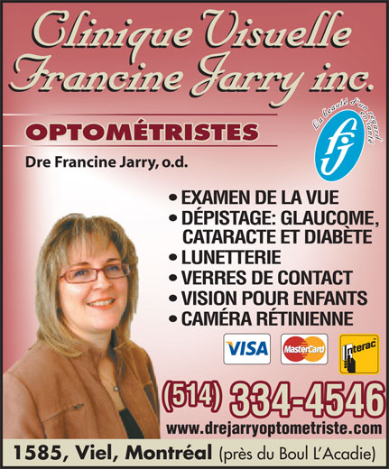 Ads Clinique visuelle Francine Jarry
