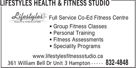 Ads Lifestyles Health & Fitness Studio