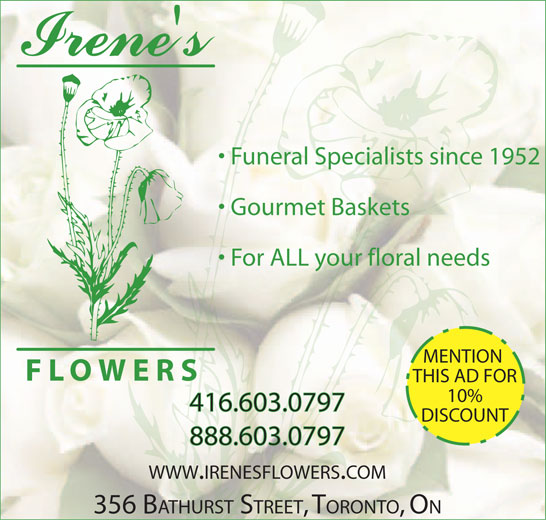Ads Irene&#039;s Flowers Ltd