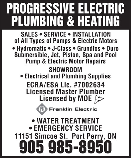 Ads Progressive Electric &amp; Plumbing