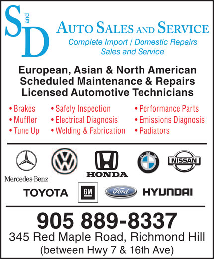 Ads S And D Auto Sales &amp; Services