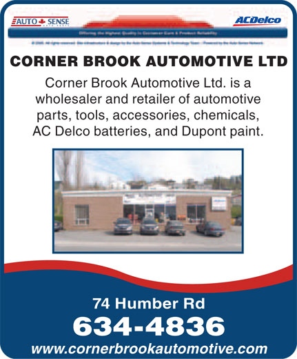 Ads Corner Brook Automotive Ltd