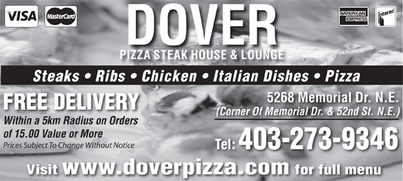 Ads Dover Pizza & Steak House