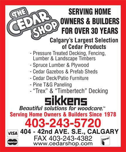 Ads Cedar Shop Building Materials The