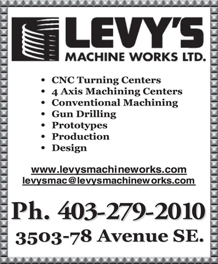 Ads Levy&#039;s Machine Works Ltd