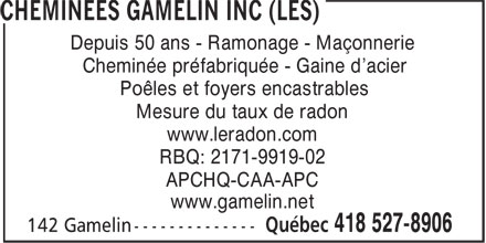 Ads Chemines Gamelin Inc (Les)