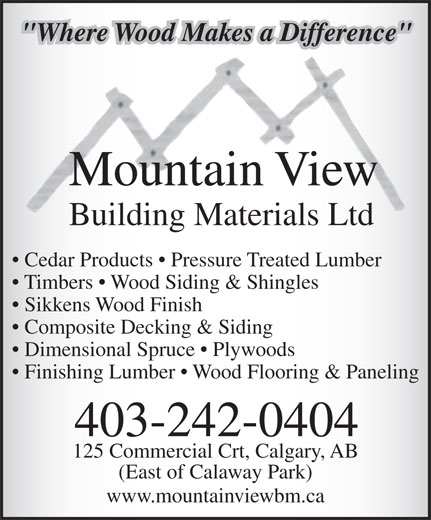 Ads Mountain View Building Materials Ltd