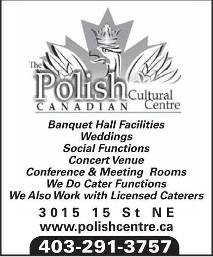 Ads Polish Canadian Cultural Centre