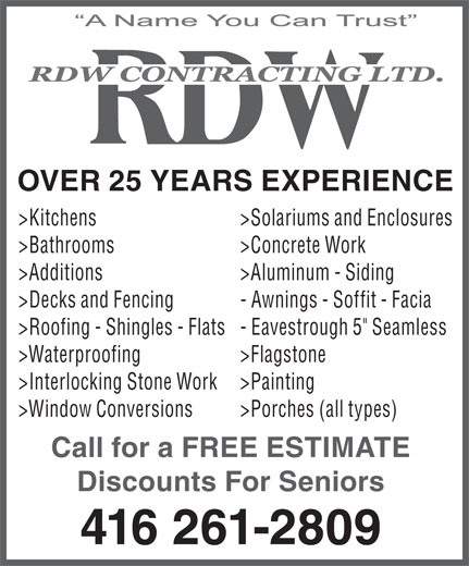 Ads R D W Contracting Ltd