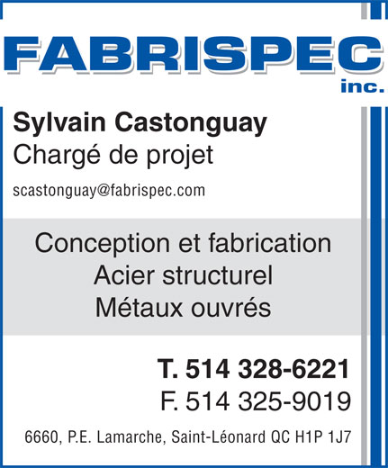 Ads Fabrispec Inc
