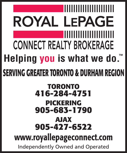 Ads Royal Lepage Connect Realty