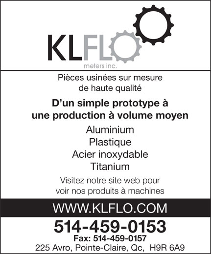 Ads KLFLO Meters Inc