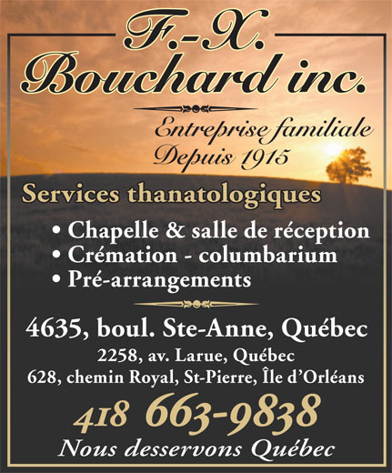 Ads F-X Bouchard inc