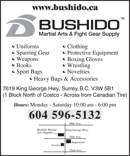Ads Bushido Martial Arts & Fight Gear Supply