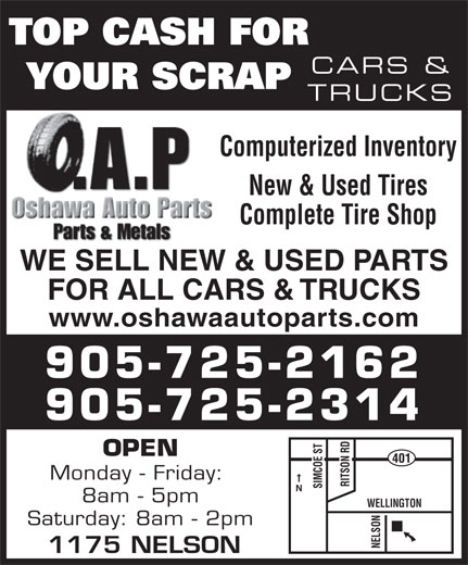 Ads Oshawa Auto Parts Ltd