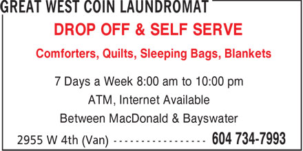 Ads Great West Coin Laundromat