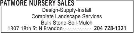 Ads Patmore Nursery Sales