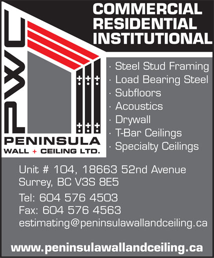 Ads Peninsula Wall & Ceiling Ltd