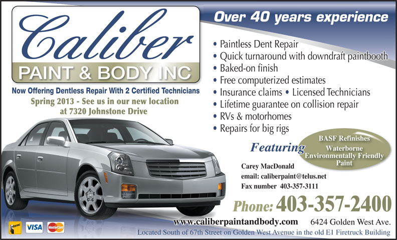 Ads Caliber Paint & Body Inc