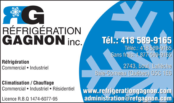 Ads Refrigeration Gagnon Inc