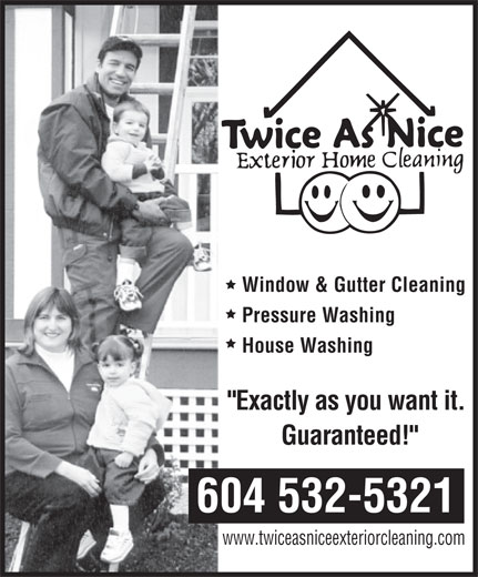 Ads Twice As Nice Exterior Home Cleaning
