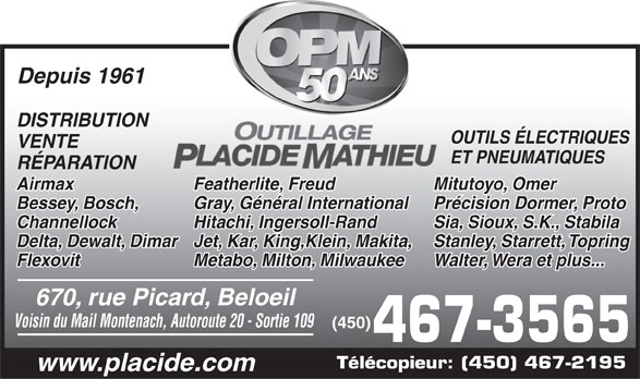 Ads Outillage Placide Mathieu