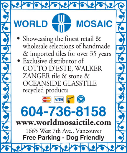 Ads World Mosaic (B C) Ltd