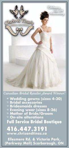 Ads Chris & Tina Bridal Boutique