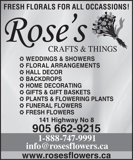 Ads Rose's Crafts & Things