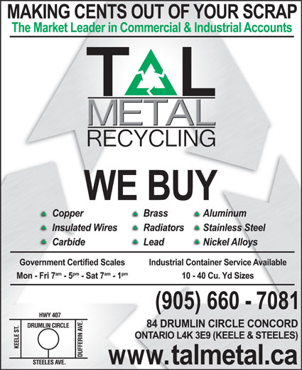 Ads Tal Metal Recycling Inc
