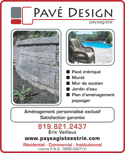Ads Pavé Design inc