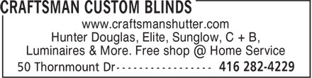 Ads Craftsman Custom Blinds