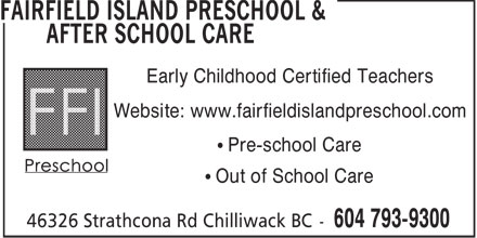 Ads Fairfield Island Preschool & After School Care