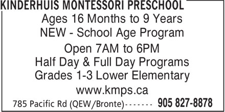 Ads Kinderhuis Montessori Preschool
