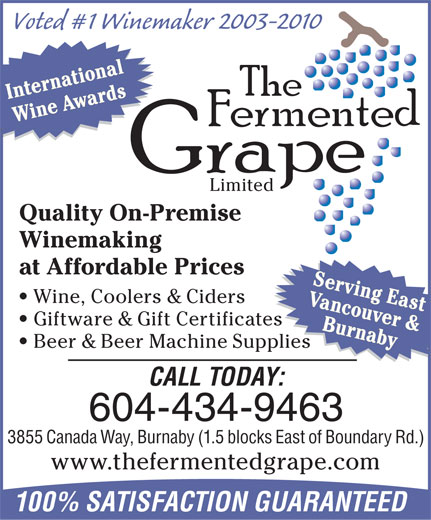 Ads Fermented Grape Winemaking Shop