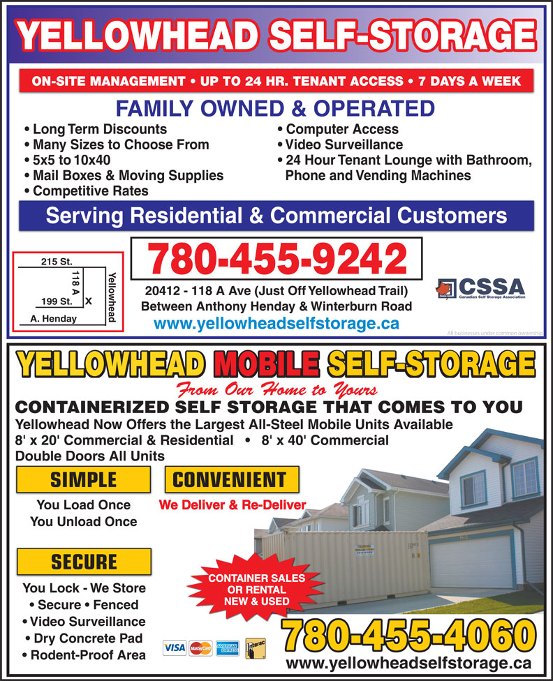Ads Yellowhead Mobile Mini Storage