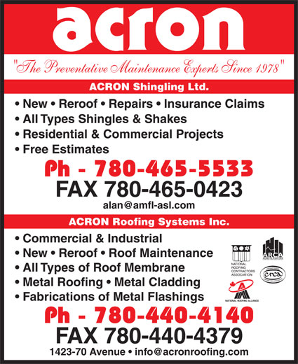 Ads Acron Shingling Ltd